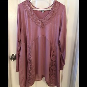 Pink long sleeved tunic